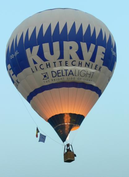 Deelnemende Luchtballons Op Ballonhappening Waregem Editie